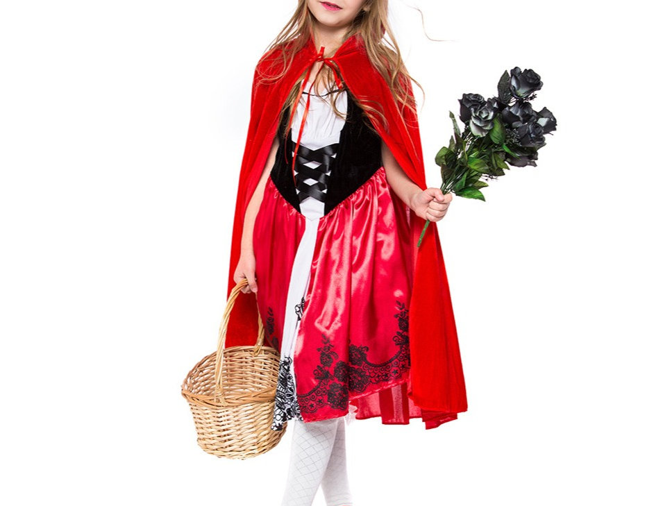 Classic Little Red Riding Hood Costume For Girls