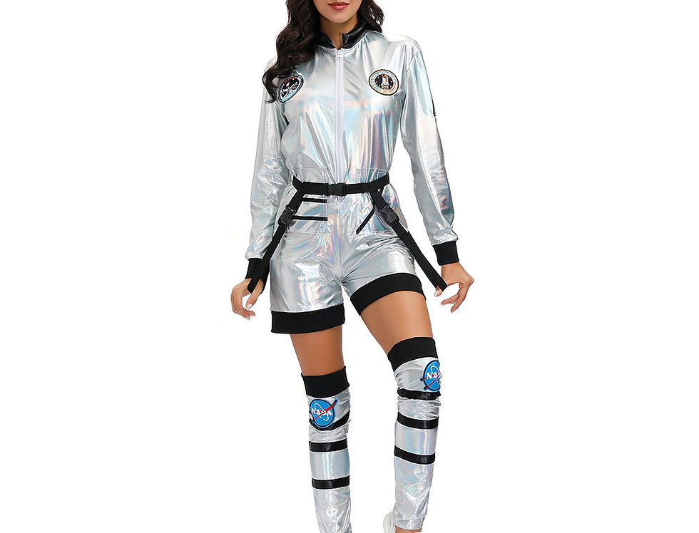 Space Force Astronaut Costume For Women - Holographic Edition