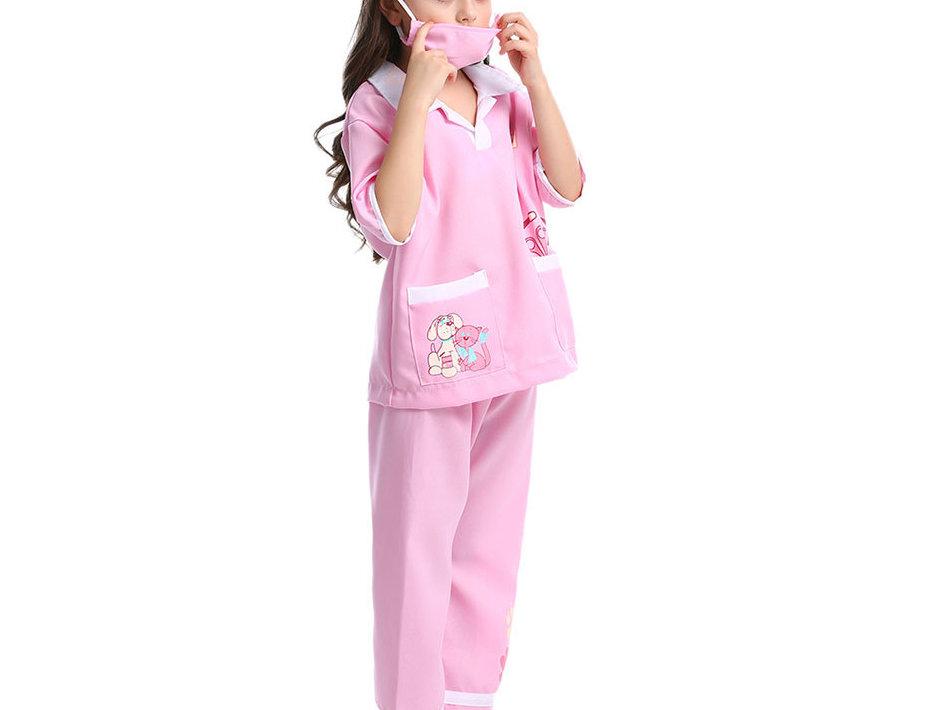Pet Lovers Vet Kids Costume For Girls - Pinky