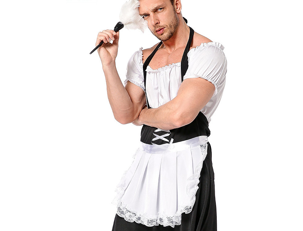 Traditional French Maid Costume For Men