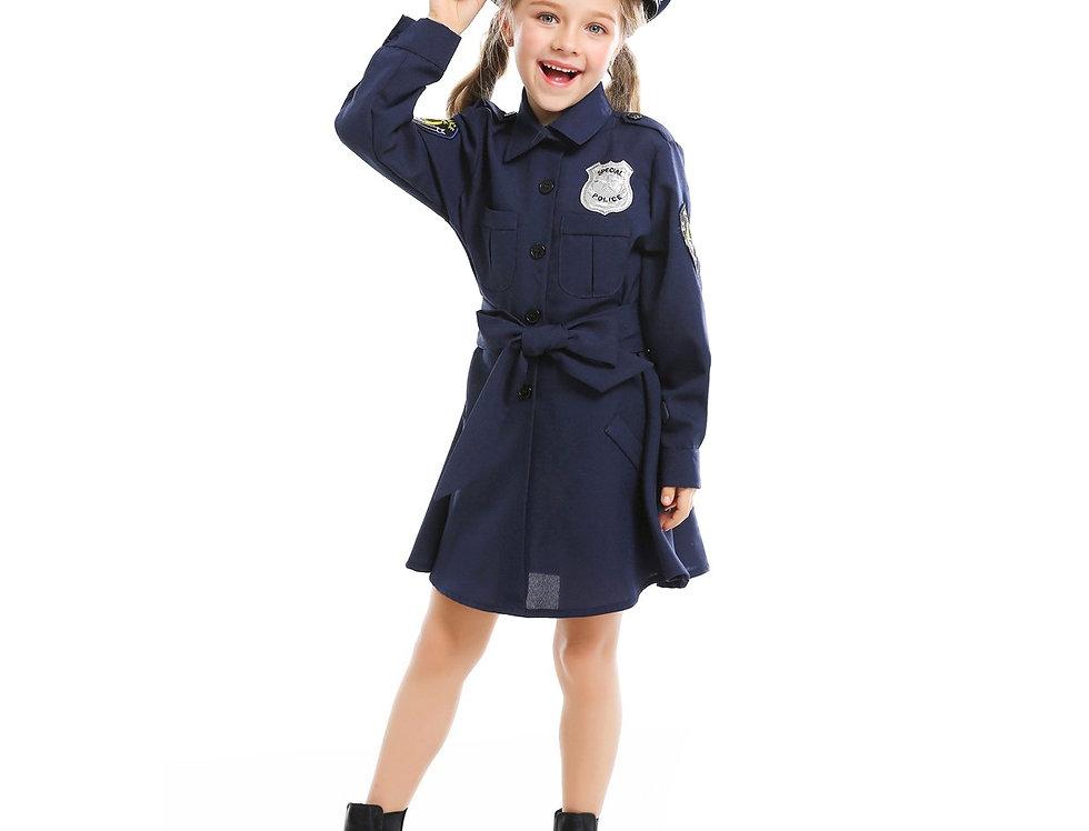 Patrol Police Officer Costume For Girls