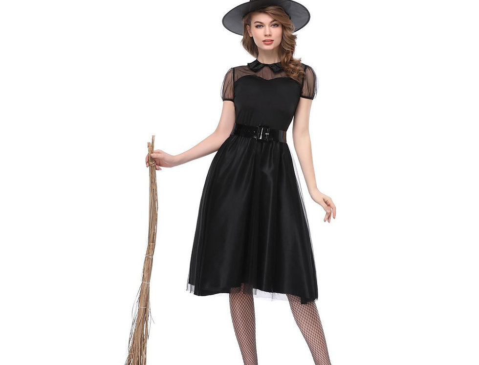 Lil Black Witch Costume For Women