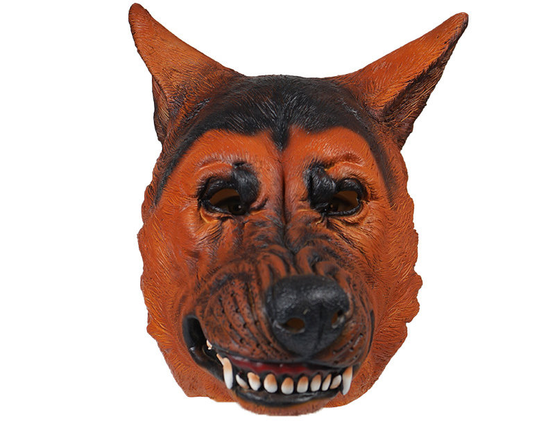 German Shepherd Dog Latex Animal Head Mask
