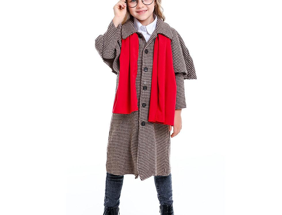 Sherlock The Legendary Detective Kids Unisex Costume - Scarf Edition