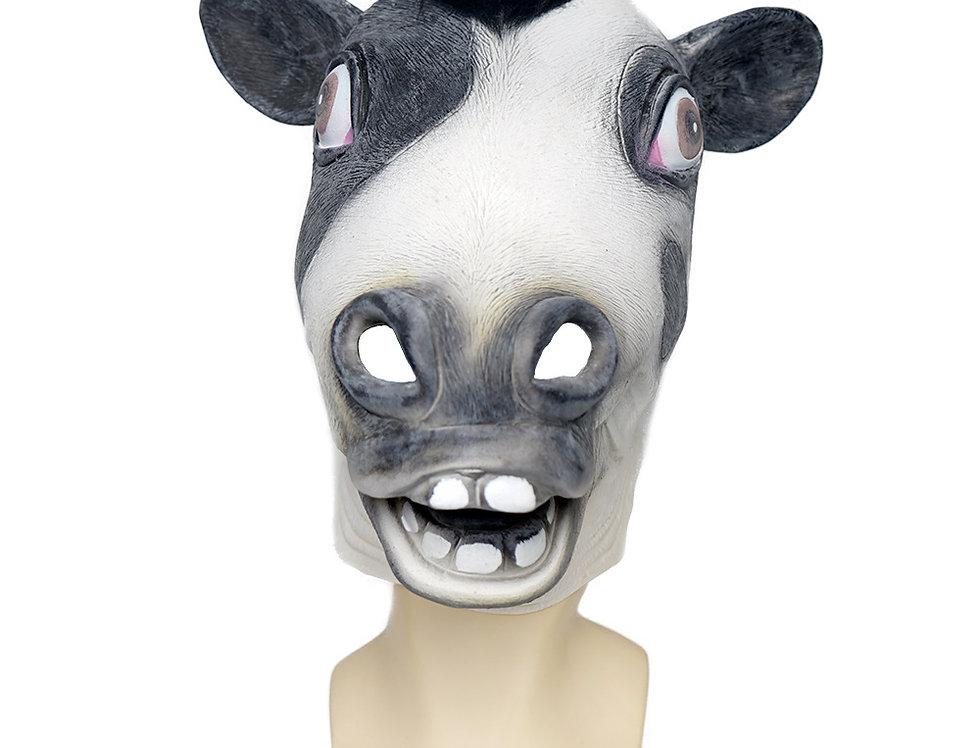 Cow Latex Animal Head Mask