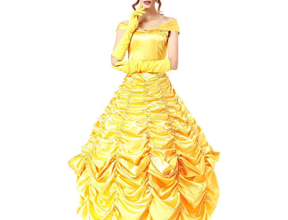 Princess Belle Costume For Women - Prestige Edition