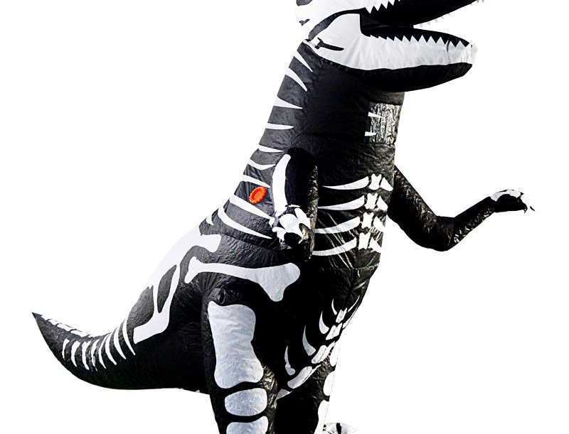 Jurassic T-Rex Dinosaur Adult Inflatable Costume - Skeleton Edition