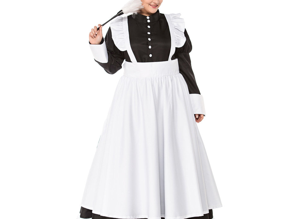 Classic British Maid Costume For Women - Plus Size