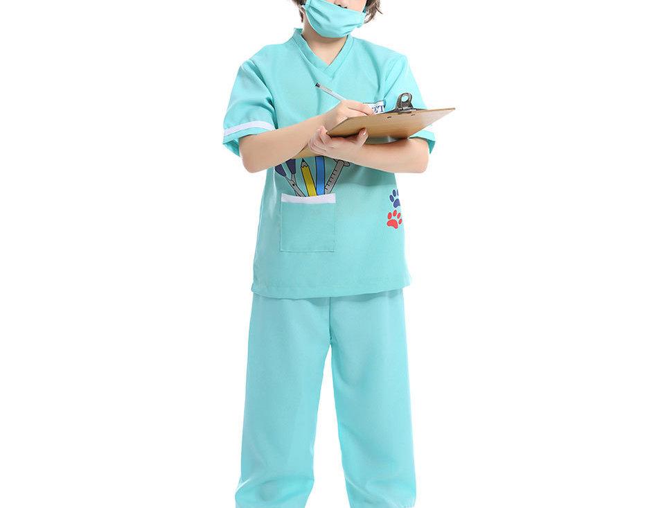 Pet Lovers Vet Kids Costume For Boys - Minty