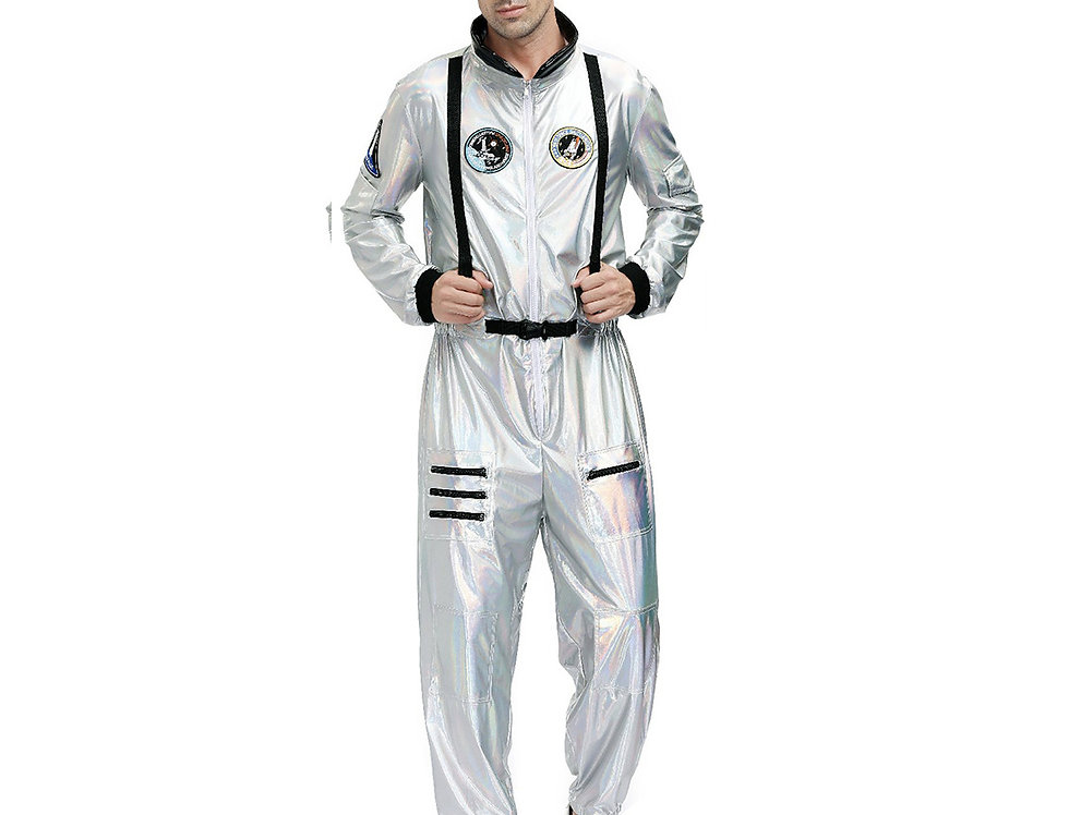Space Force Astronaut Costume For Men - Holographic Edition