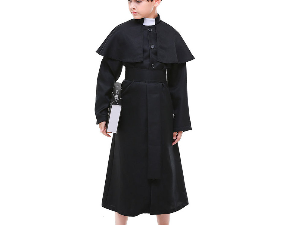 Classic Priest Costume For Boys