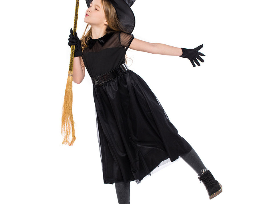 Lil Black Witch Costume For Girls