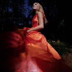 Long happy dress in silk
