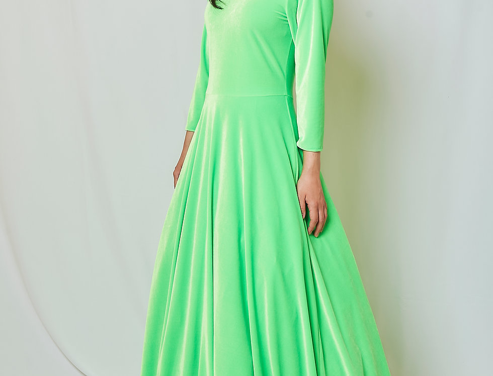 Anna dress in stretch velvet