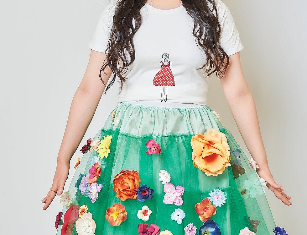 Skirt in tulle