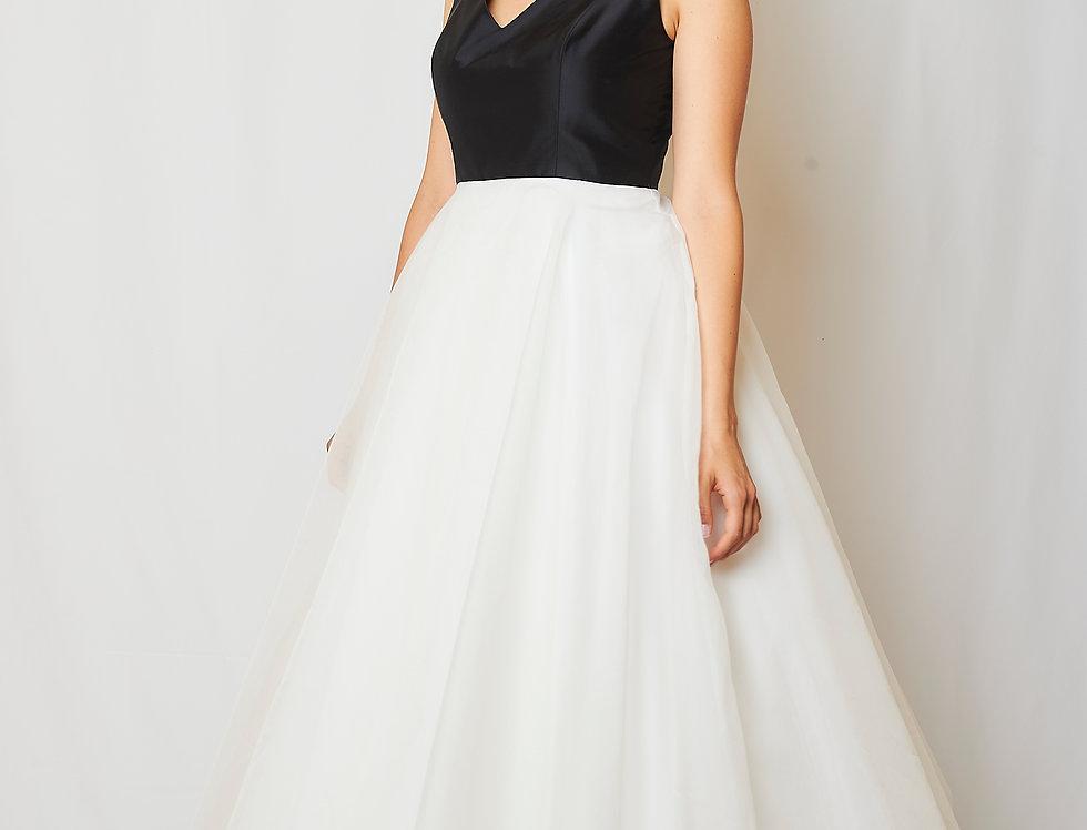 Grace dress in silk & organza