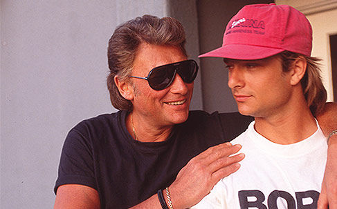 Johnny Hallyday et David Hallyday by Tony Frank