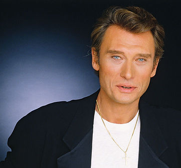 Johnny Hallyday portrait by Tony Frank in 1986