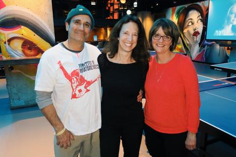 Our Superstar Hosts Tom, Lynne, & Cathy!