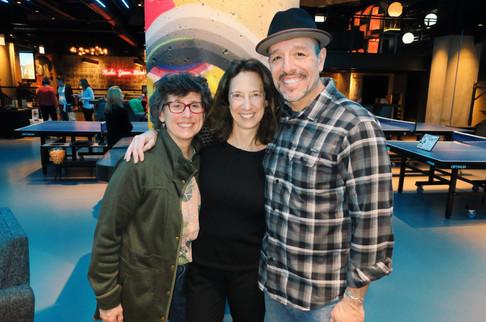 Karibu Sponsors, Sara & John with Lynne