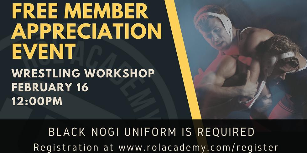 Member Appreciation Event - Wrestling Workshop