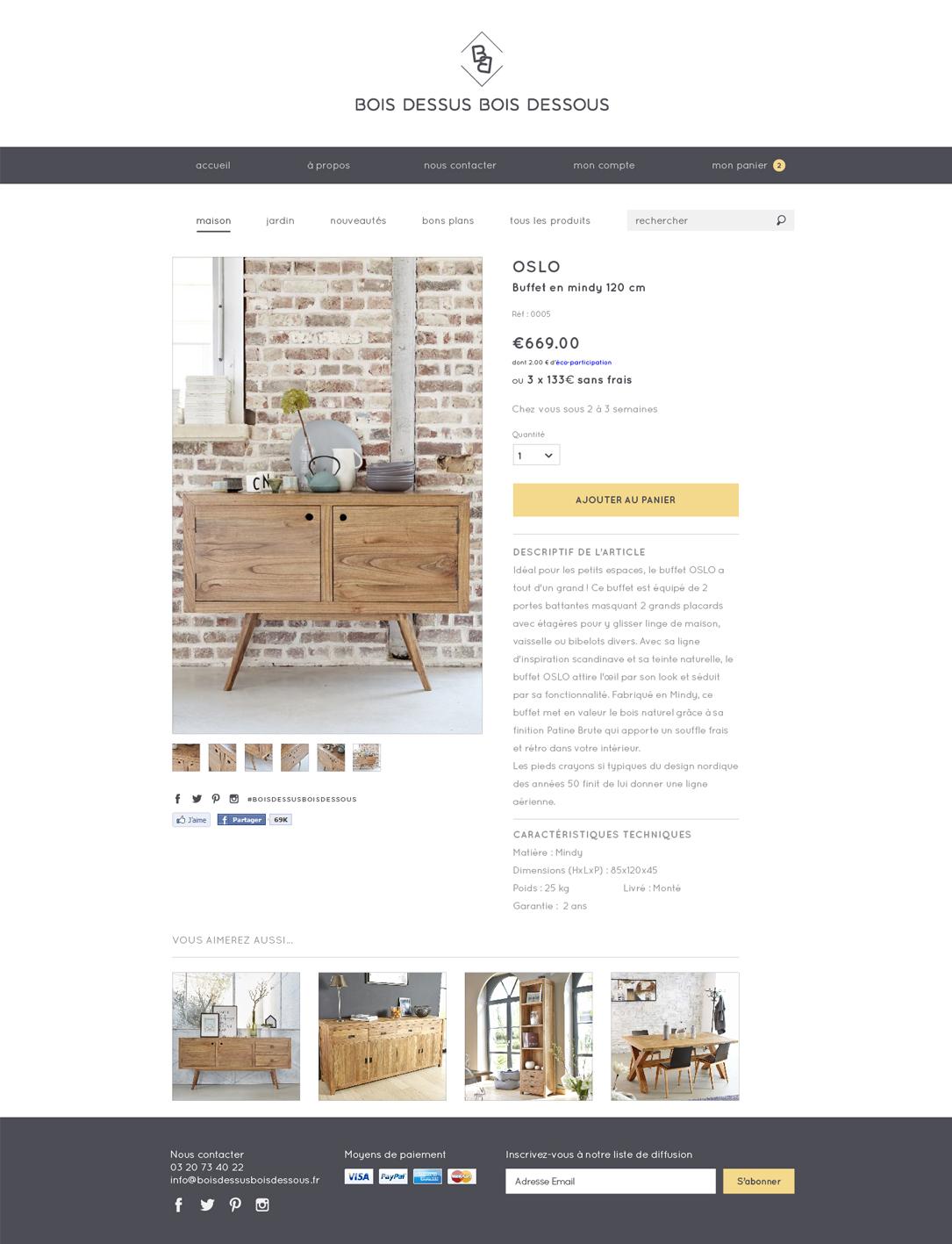 BOIS DESSUS BOIS DESSOUS - Webdesign