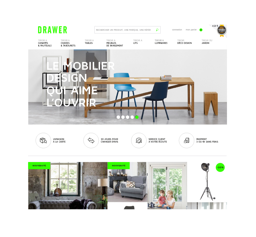 DRAWER - Web design
