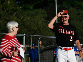 Nicholson honored pregame before Chatham tops Orleans in slugfest 13-10