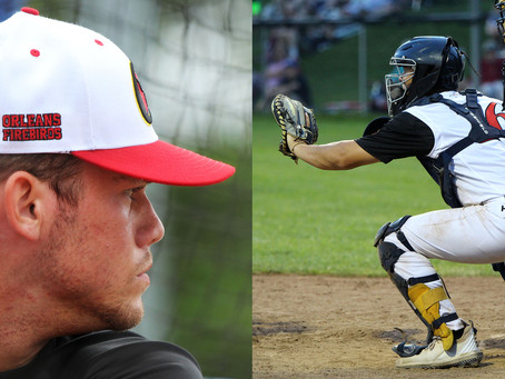 Catcher framing: An art that Garret Guillemette and Justin Miknis have down to a science
