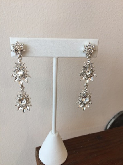 Vintage inspired silver tear drops