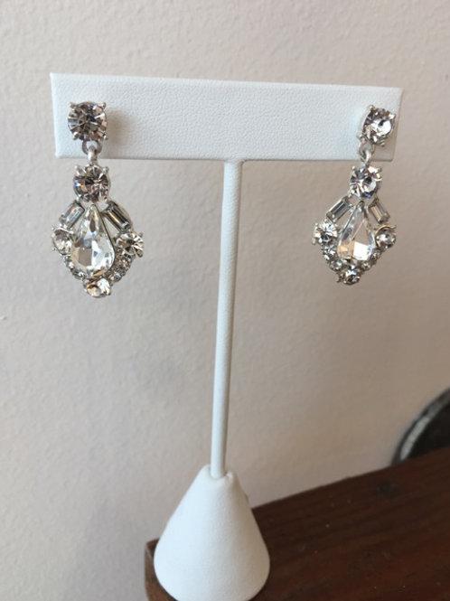 Art Deco Silver Crystal Chandelier