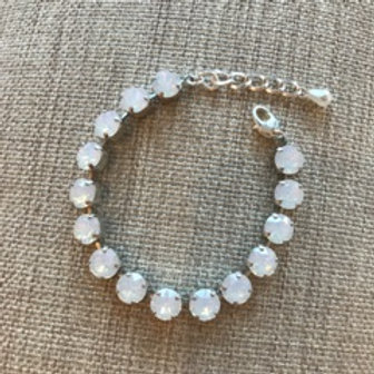 "Handmade in Greece, Swarovski Crystal Bracelet in ""White Alabaster"""