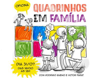 OFICINA DE QUADRINHOS EM FAMÍLIA