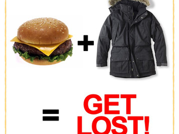 Eating Cheeseburgers With A Coat On