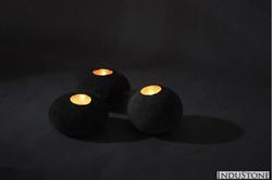 Kerzenhalter aus Stein