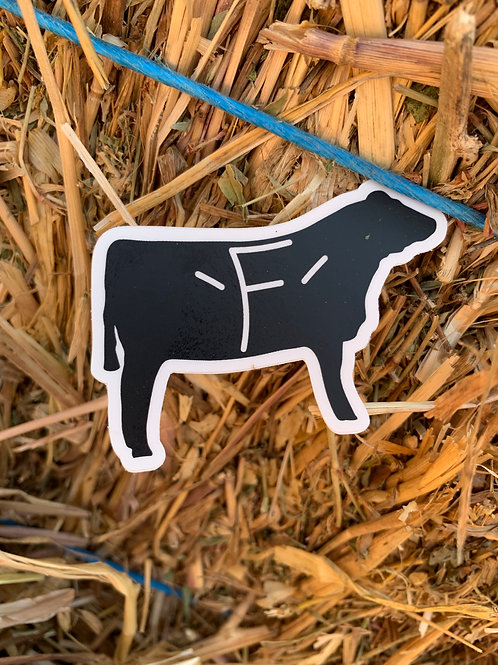 Tiny Steer Sticker