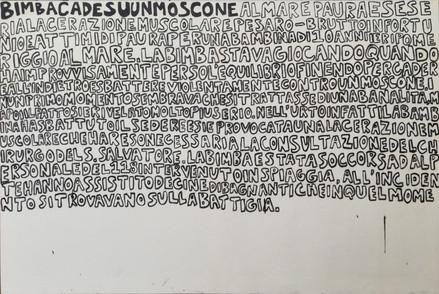"""""""Bimba cade su un moscone"""" (Girl falls on a boat)"""