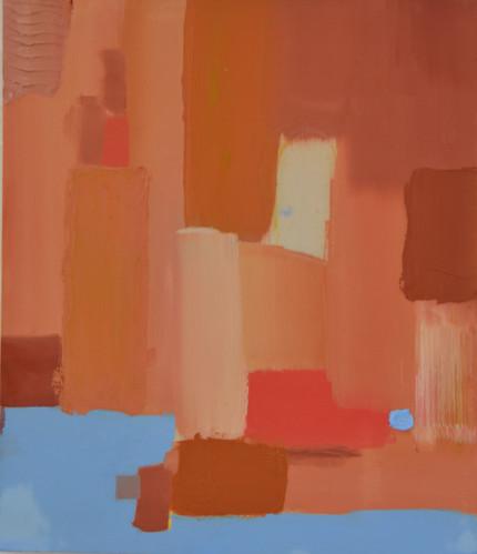 70 x 50 cm Oil and encaustic paste on canvas 2018
