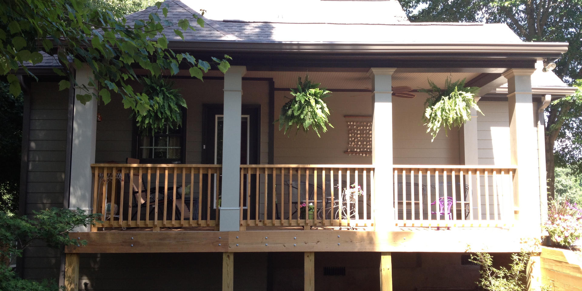 Southern Style sitting porch