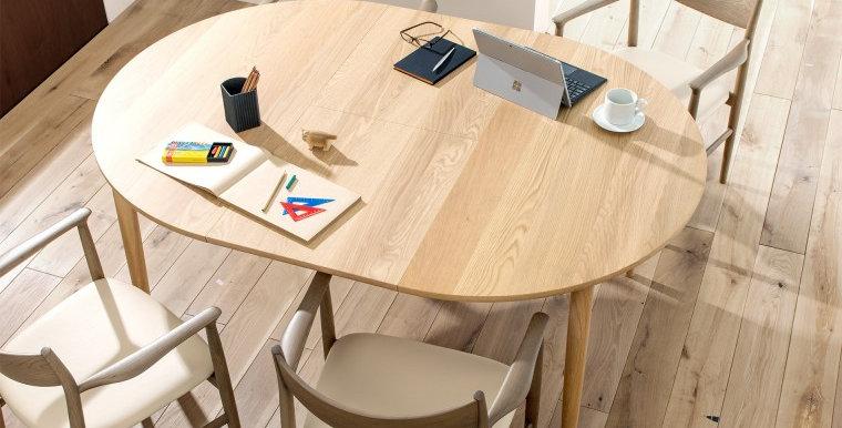 MOM 實木伸縮餐桌