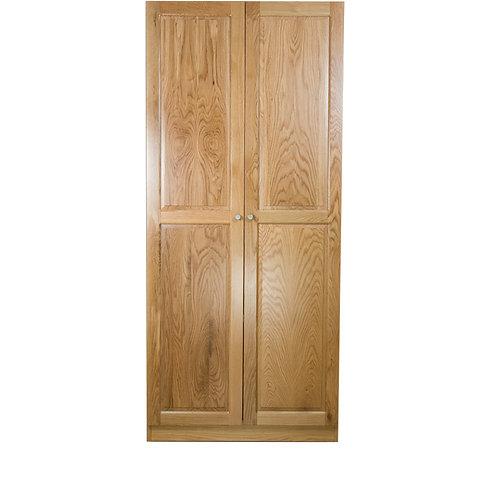 白橡木雙門實木衣櫃