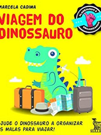 Livro caixinha Viagem do Dinossauro - ajude o dinossauro a arrumar as malas