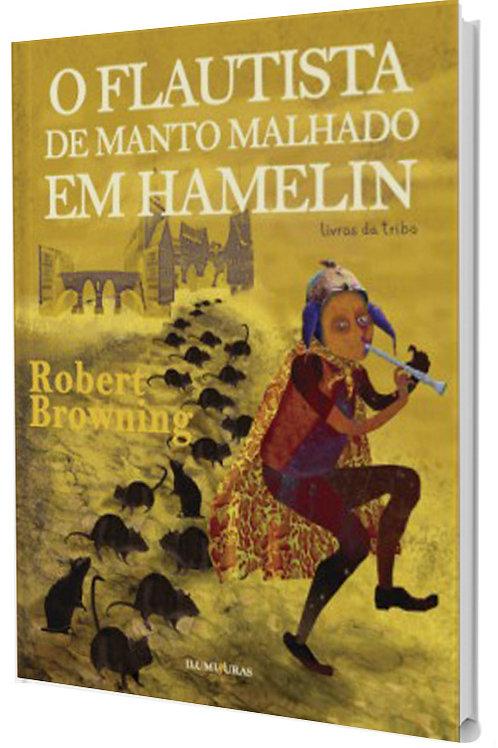 O flautista do manto malhado em Hamelin