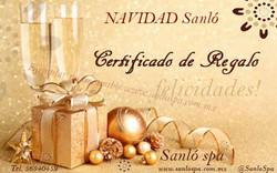 Certificado de regalo spa