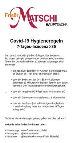 Covid-19 Hygieneregeln