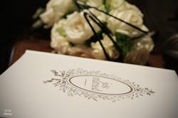 bouquet  et livre d'or