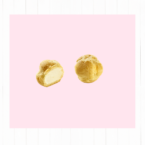 Profiteroles rellenos con crème patissière - 12 unidades