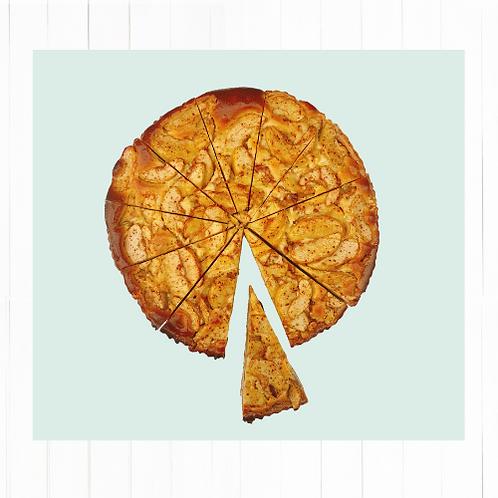 Tarta de manzana Normanda trozo