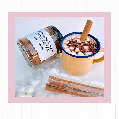 Kit Chocolate Montañes con bastones canela y marshmallows