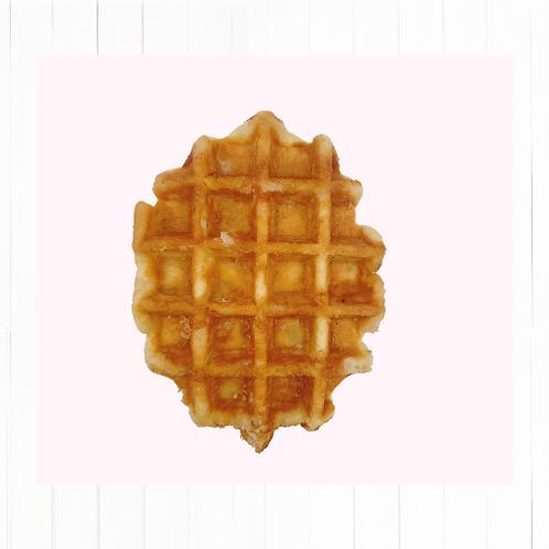 Waffle con perlas de azúcar